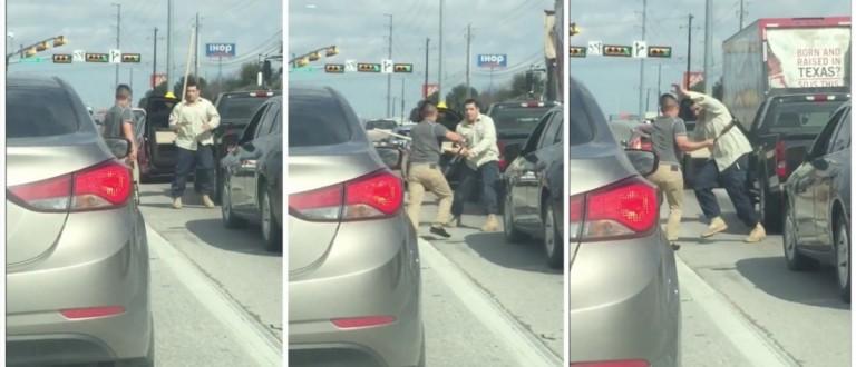 Road Rage Fight (Credit: Screenshot/Twitter Noel Deric)