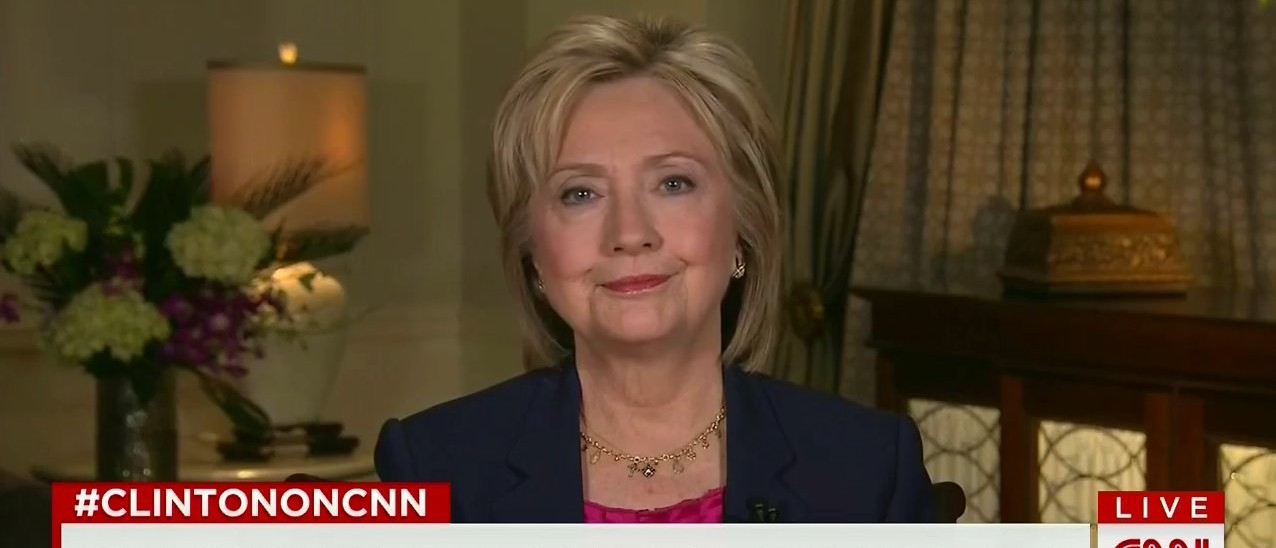 Hillary, Have You Been Interviewed By The FBI Yet? -- 'No' (screenshot: CNN)
