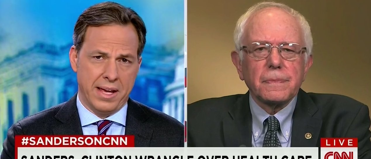 Sanders: Clinton's Attacks Against My Campaign Are 'Obviously, Not True' (screenshot: CNN)