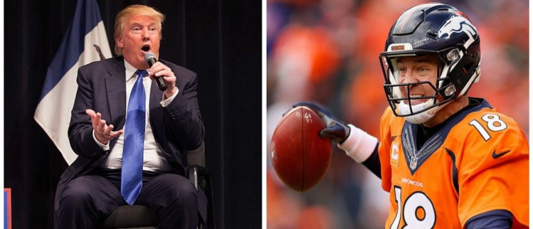 Trump's Super Bowl Pick? -- 'I'm Sticking With Peyton' (Getty Images)