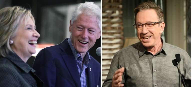 Tim Allen Says 'The Clintons Are Like Herpes Just When You Think They're Gone, They Show Up Again' [Images via Getty]