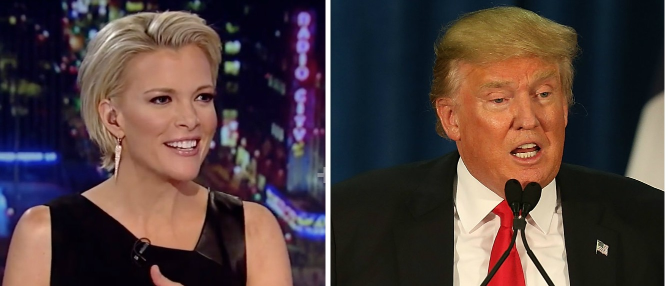 Trump Campaign Manager Megyn Kelly Is 'Completely Obsessed' With Donald Trump [images via Fox News and Getty]
