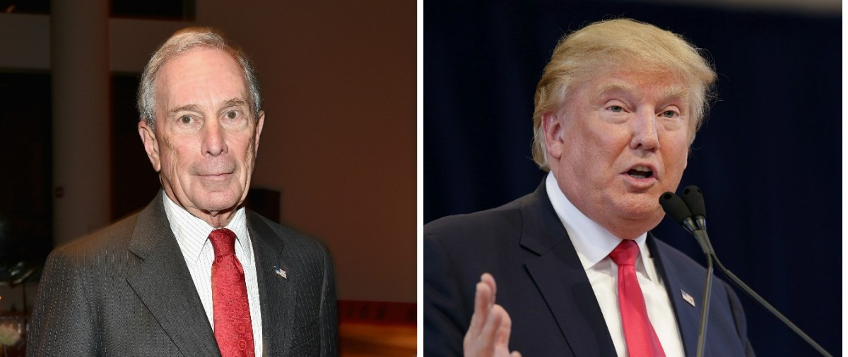 Trump: 'I Would Love To See Michael Bloomberg Run' [images via Getty]
