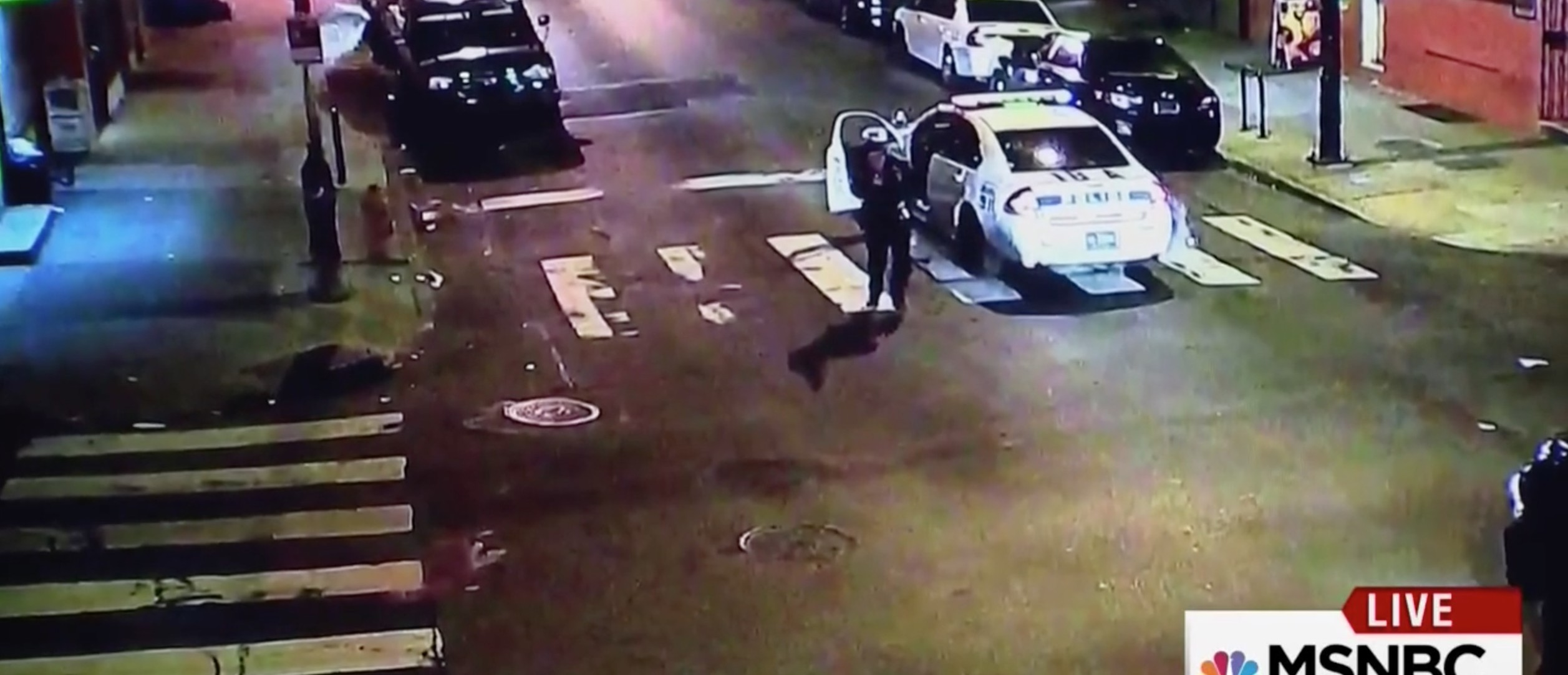 Watch Hero Philly Cop Get Shot Multiple Times And Then Give Chase [screen shot MSNBC]