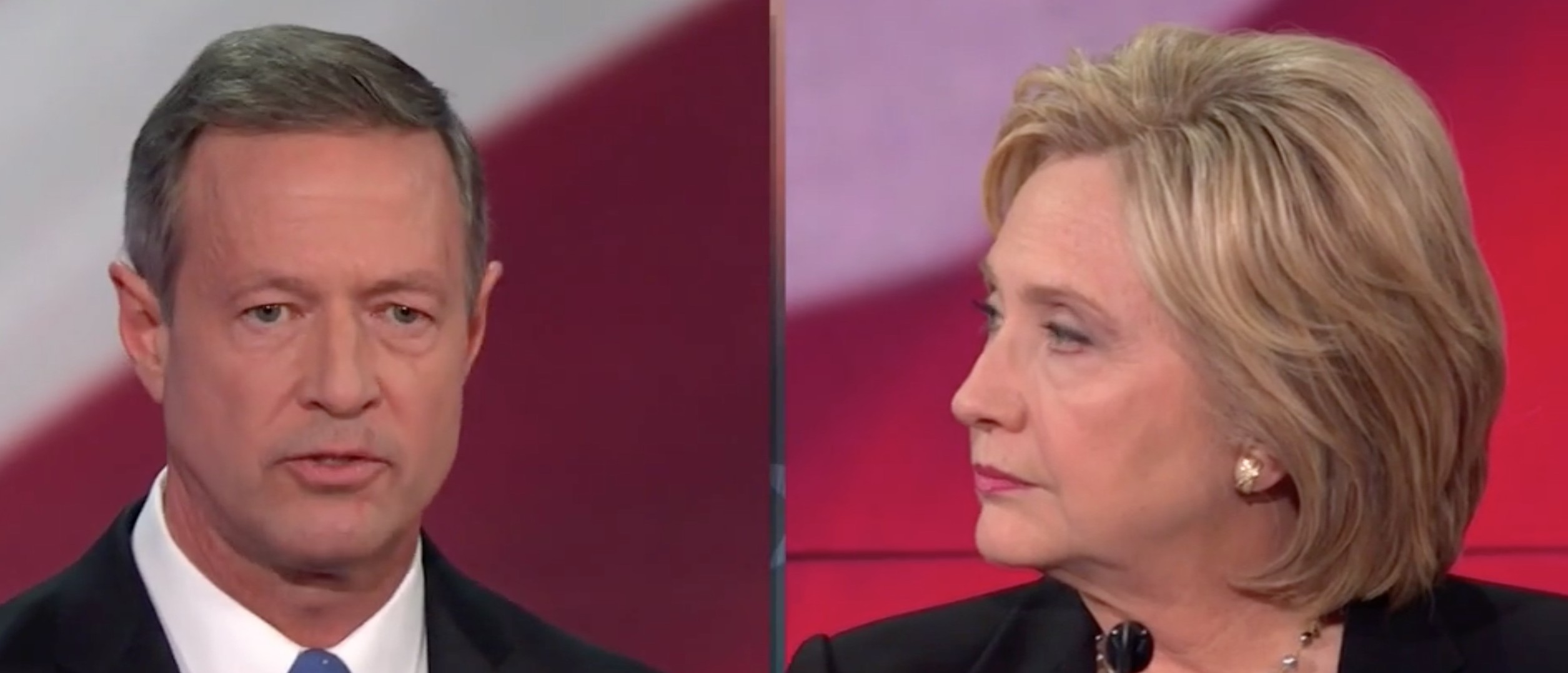 Watch Martin O'Malley Call Hillary Clinton Out For Not Telling The Truth [screen shot NBC]