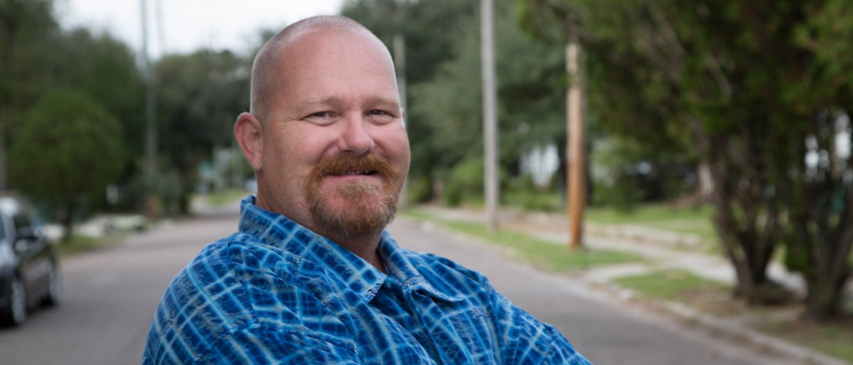Greg Seymore, pictured at the Prisoners of Christ Ministry's Faith House, Becket Fund