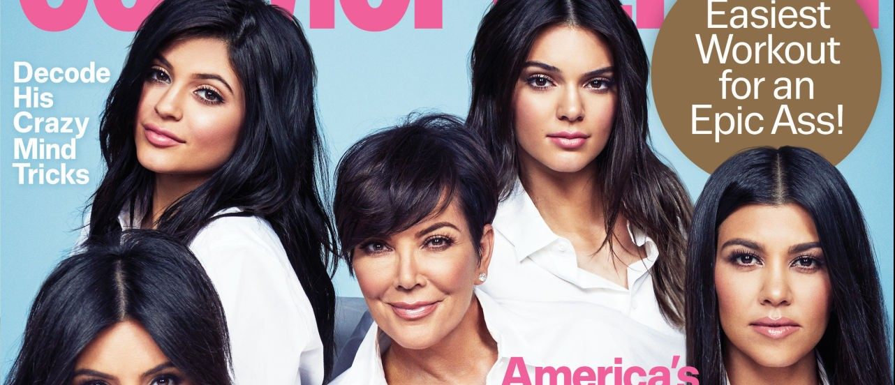 Cosmo put the Kardashians on its November cover. (Photo: Cosmopolitan)