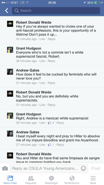 Prof. Robert Weide's lengthy argument with people on Facebook [Facebook screengrab]
