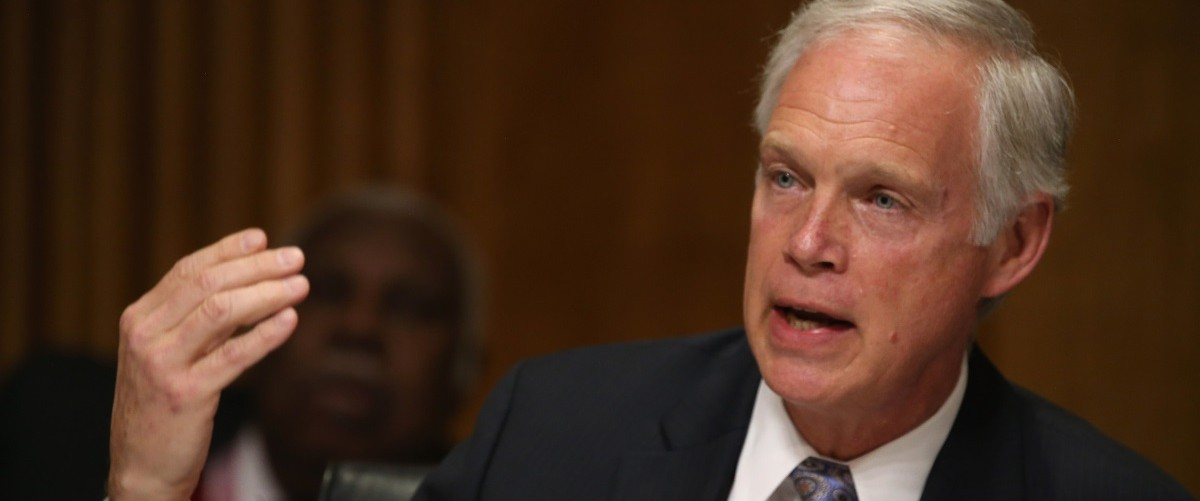 Sen. Ron Johnson (R-WI) participates in a Senate Foreign relations Committee hearing on Capitol Hill, March 10, 2015 in Washington, DC. The committee was hearing from us government officials on the situation in Ukraine. Mark Wilson/Getty Images.