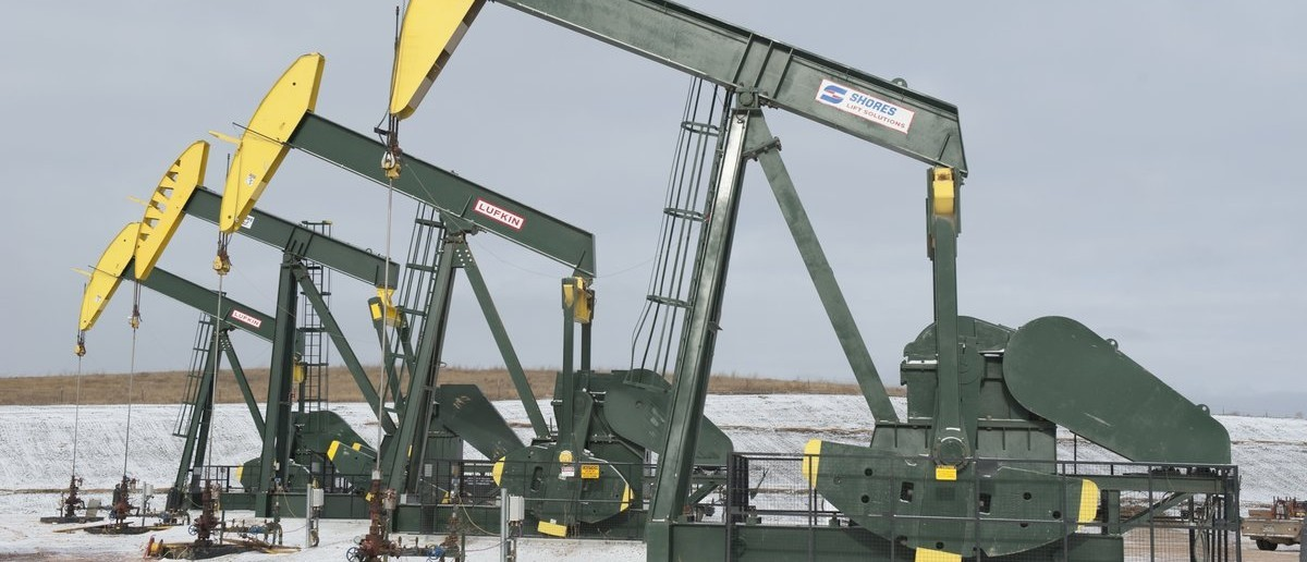 Pumpjacks taken out of production temporarily stand idle at a Hess site while new wells are fracked near Williston, North Dakota November 12, 2014. Falling oil prices have yet to spoil North Dakota's party, with billions of investment dollars still flowing for new wells and pipelines, apartments and shopping centers, a tacit bet the third energy boom in the state's history is just getting started. Picture taken November 12, 2014. REUTERS/Andrew Cullen (UNITED STATES - Tags: BUSINESS COMMODITIES ENERGY)
