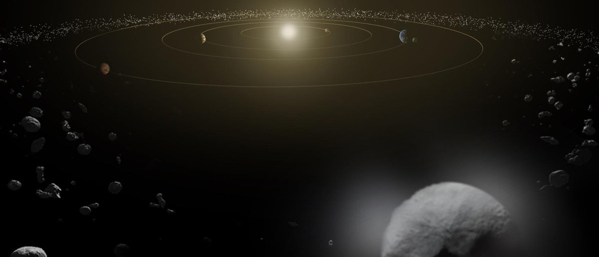 Dwarf planet Ceres is seen in the main asteroid belt, between the orbits of Mars and Jupiter, as illustrated in this undated artist's conception released by NASA January 22, 2014. Ceres, one of the most intriguing objects in the solar system, is gushing water vapor from its frigid surface into space, scientists said on Wednesday in a finding that raises questions about whether it might be hospitable to life. REUTERS/NASA/ESA/Handout via Reuters