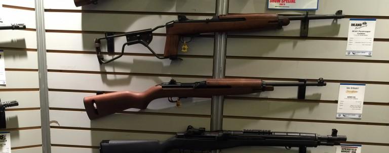 Guns presented by vendors at Shot Show 2016