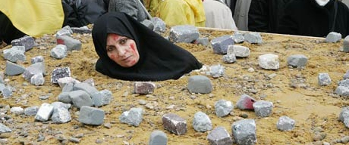 Stoning protest