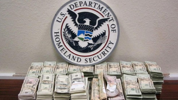 DHS logo with money