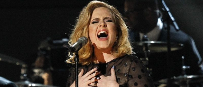 File photo of Adele performing at the 54th annual Grammy Awards in Los Angeles