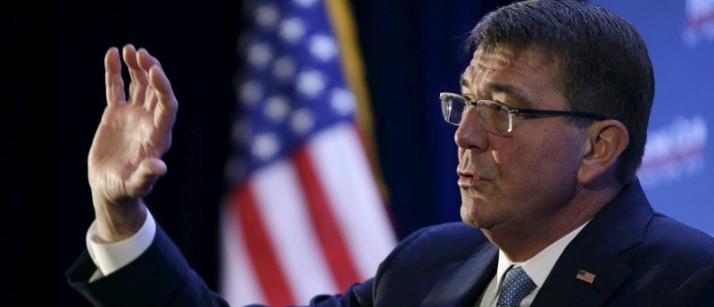 Secretary of Defense Carter answers questions at the Economic Club of Washington