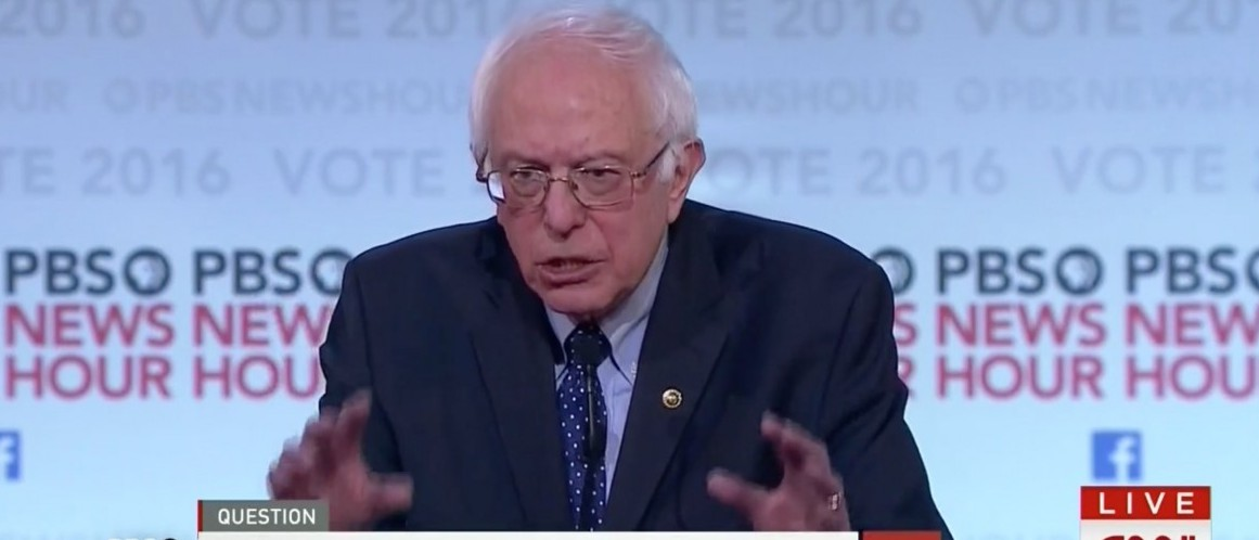 Bernie Sanders, Screen shot CNN Dem Debate