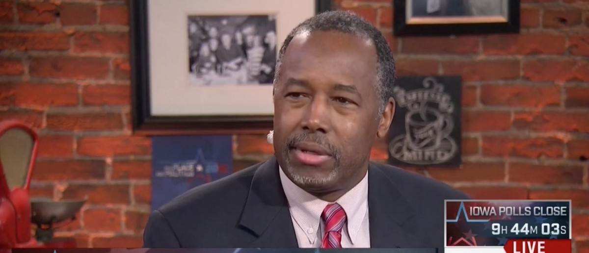 Carson: 'Bunch Of Crap' -- Who Says Nice Guys Can't Be Tough? [screen shot MSNBC]