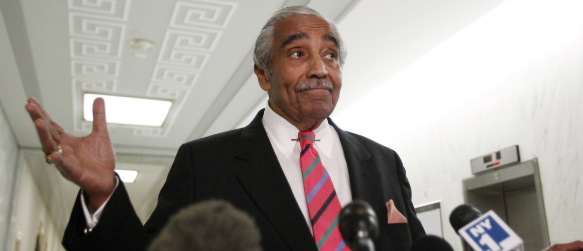 Rep. Charlie Rangel (D-NY) gestures as he speaks to the members of the media in front of his House office on Capitol Hill in Washington, Nov. 16, 2010. (REUTERS/Hyungwon Kang)