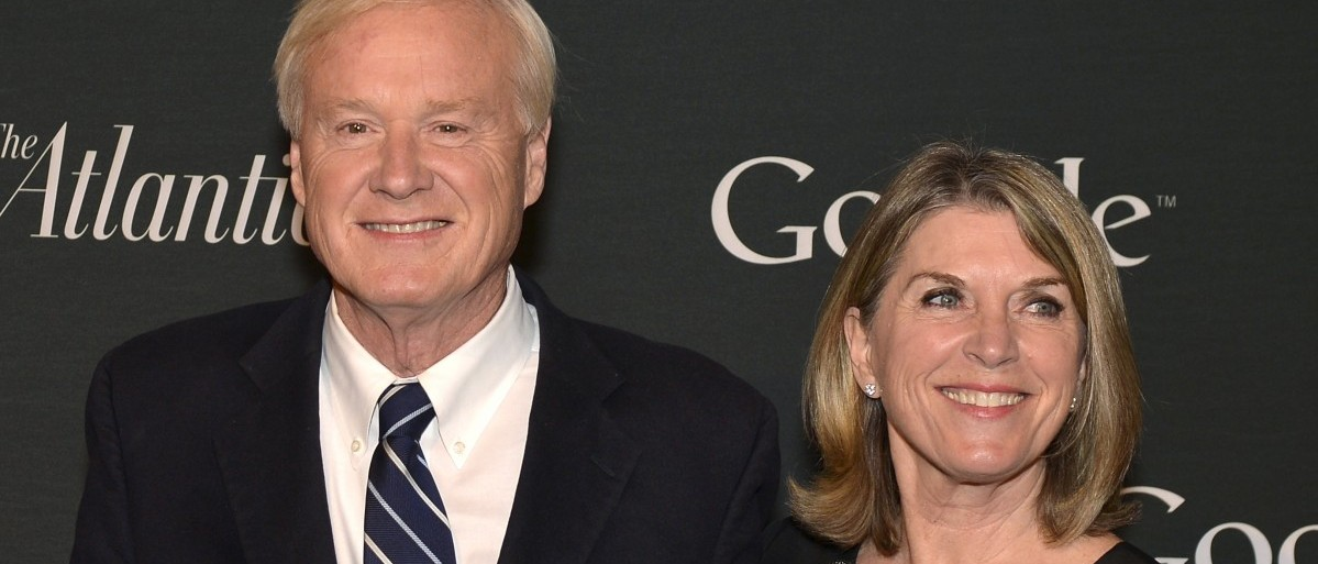 "TV Journalist Chris Matthews and his wife Kathleen pose for photographers as they arrive for a Google and The Atlantic event to celebrate ""The Art of Expression"" on the National Mall, in Washington"