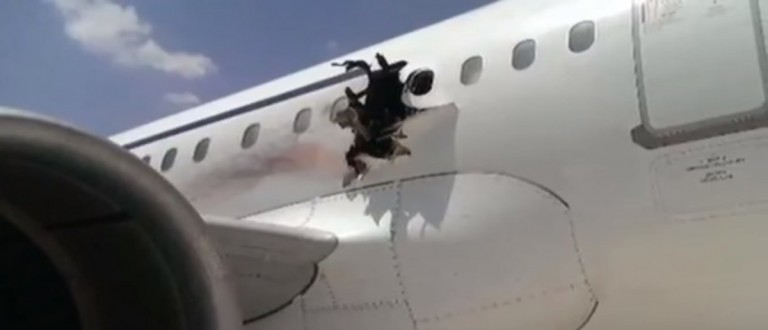 (Photo of the Daallo airlines plane. YouTube/Screen shot)