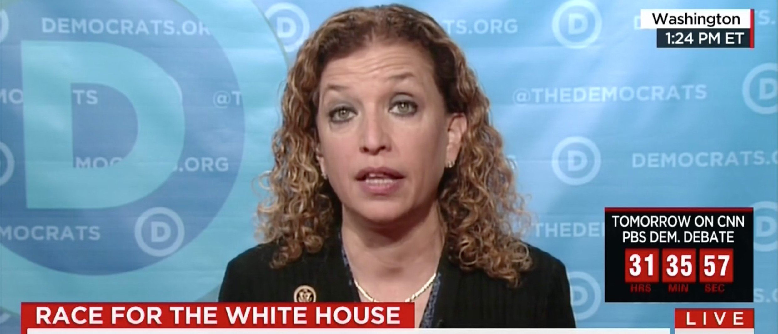 Debbie Wasserman Schultz, Screen shot CNN