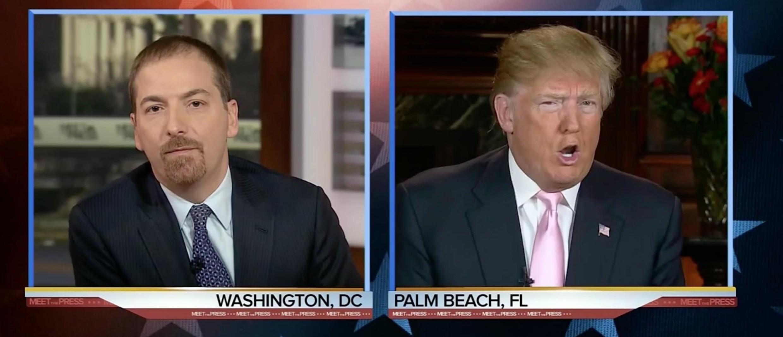 Donald Trump, screen shot NBC's 'Meet the Press' 2-28-2016