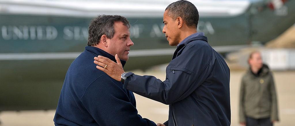 Obama: My 'Bro Hug' Creamed Christie (Getty Images)