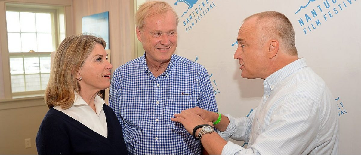 NANTUCKET, MA - JUNE 26:  (L-R) Kathleen Matthews, commentator Chris Matthews, and actor Bradley Whitford attend The 19th Annual Nantucket Film Festival on June 26, 2014 in Nantucket, Massachusetts.  (Photo by Theo Wargo/Getty Images for Nantucket Film Festival)