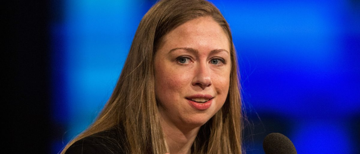 Chelsea Clinton speaks at the Clinton Global Initiative' closing session on September 29, 2015 in New York City. The Clinton Global Initiative, happening simultaneously with the United Nation's General Assembly, invites leaders from politics, business and culture to discuss world issues. (Photo by Andrew Burton/Getty Images)