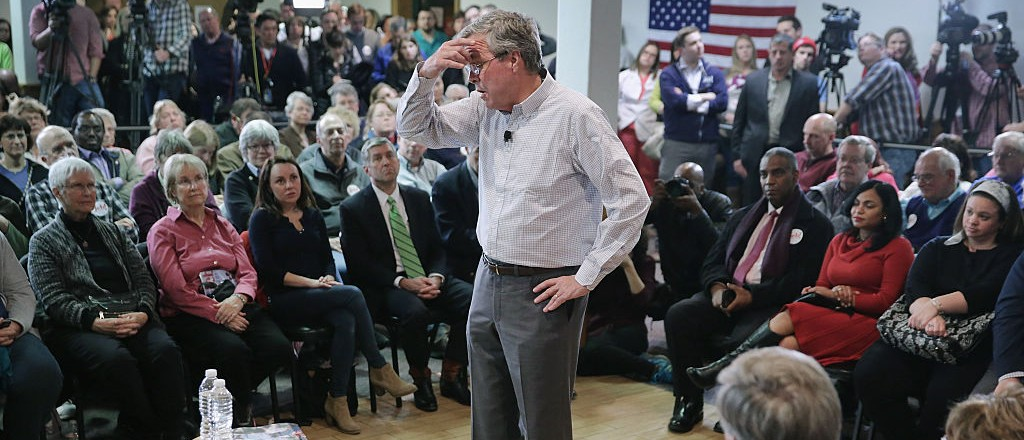 Jeb Begs Low-Energy Crowd -- 'Please Clap' (Getty Images)
