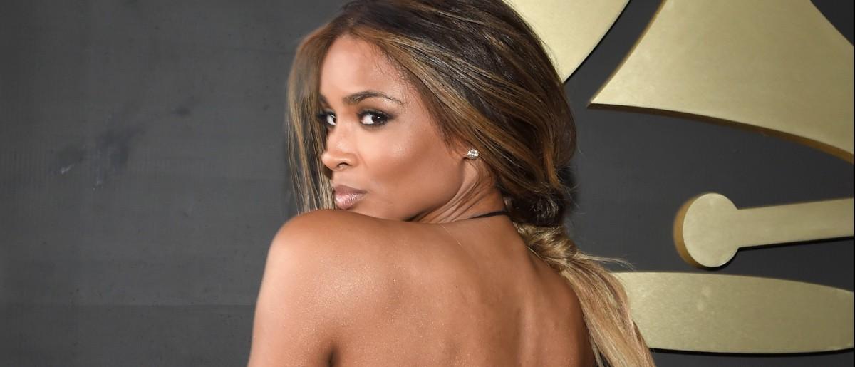 Ciara wears revealing dress at Grammys