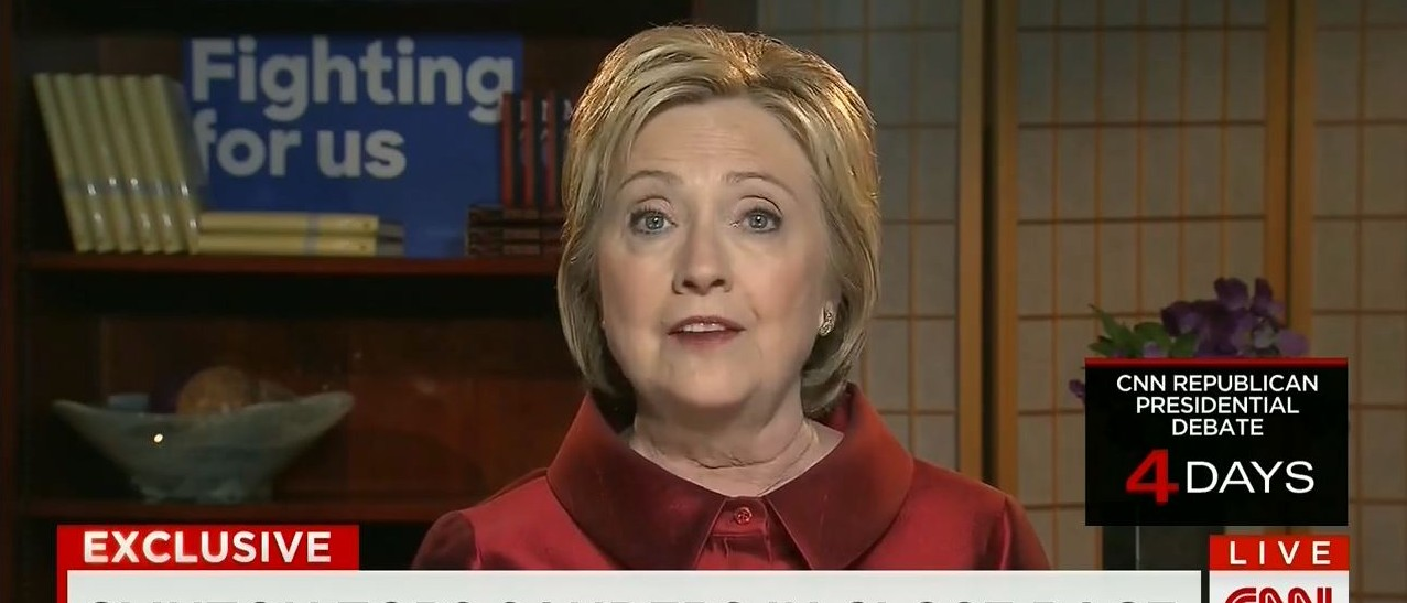 Hillary Clinton, Screen Shot CNN 'State of the Union'