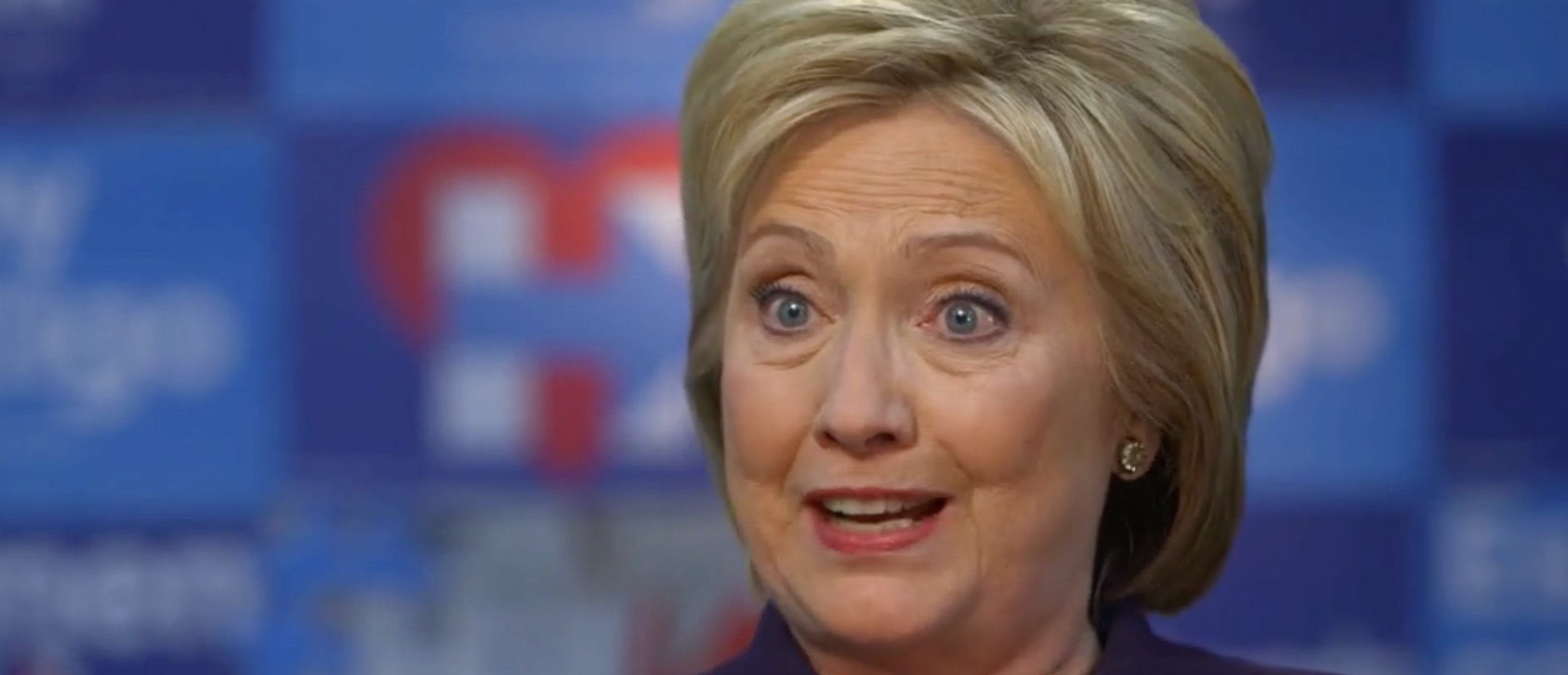 Hillary Clinton, screen shot CBS News