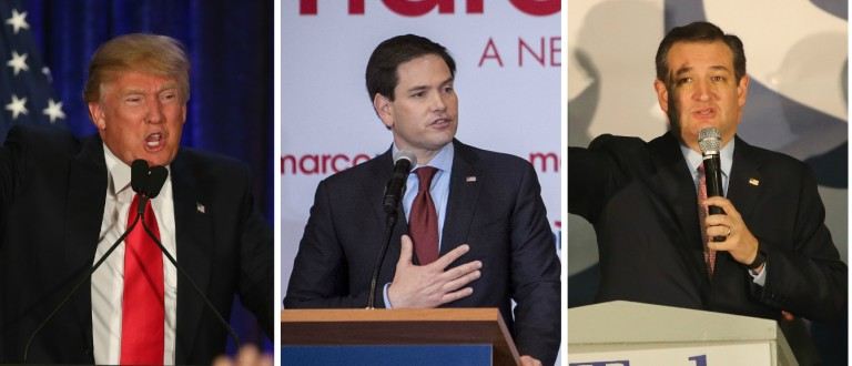 Ingraham If Trump And Cruz Continue To 'Savage' Each Other Might As Well Hand Nomination To Rubio [images via Getty]