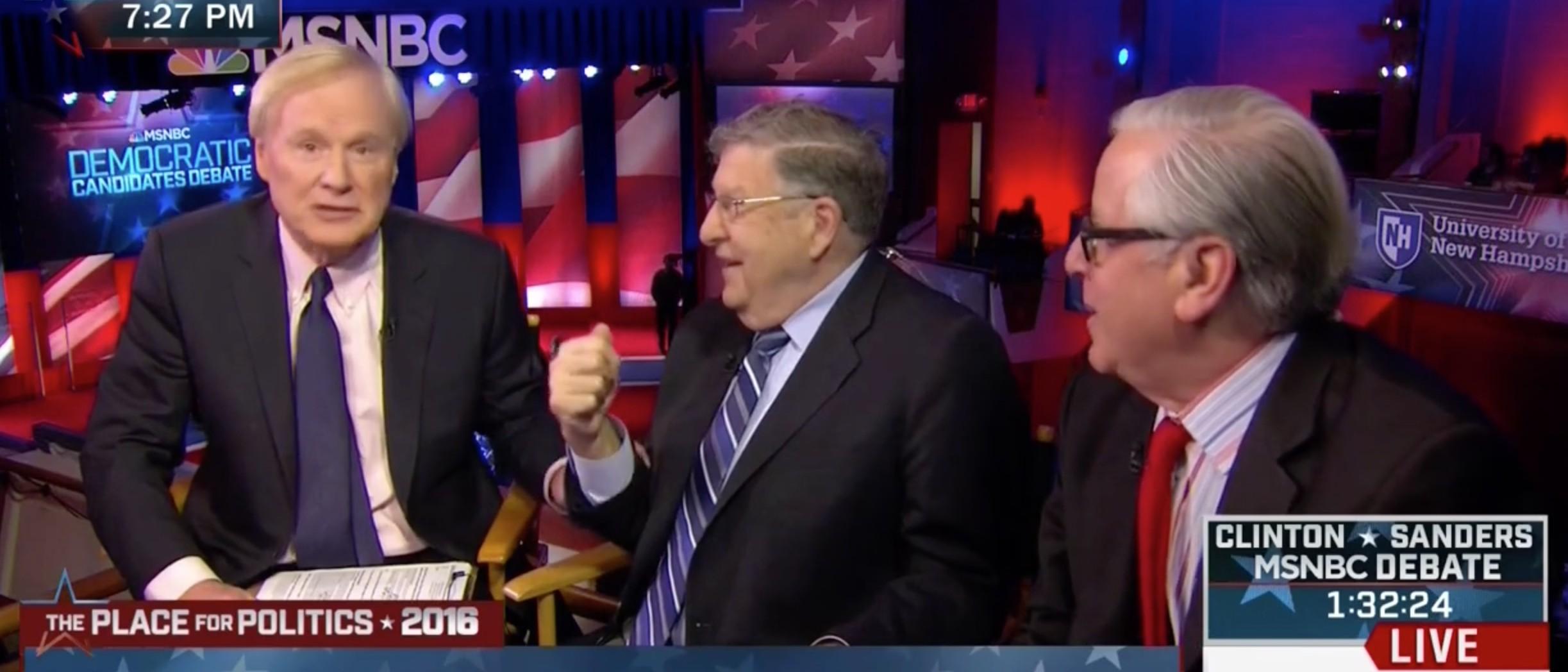 MSNBC's Chris Matthews Says John Sununu Knows His 'S**T' [screen shot MSNBC]