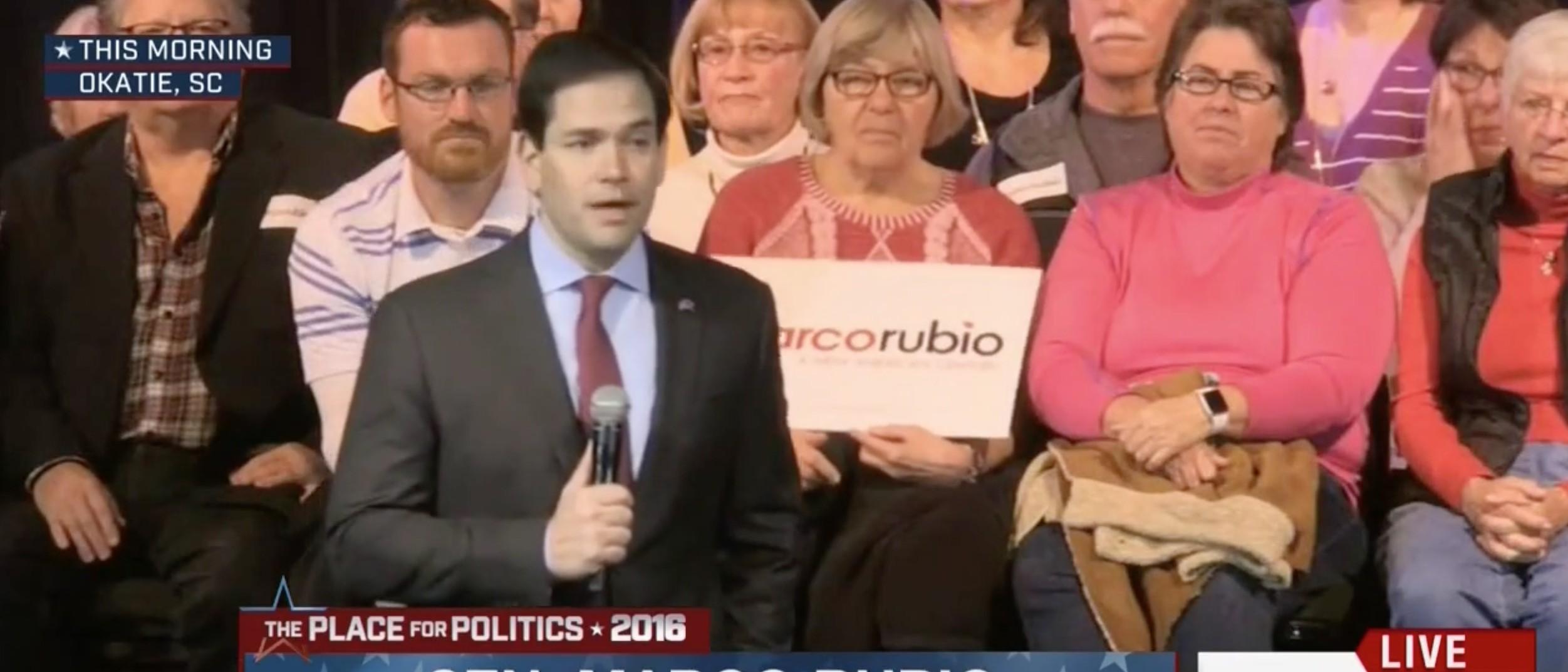 Marco Rubio, screen shot MSNBC