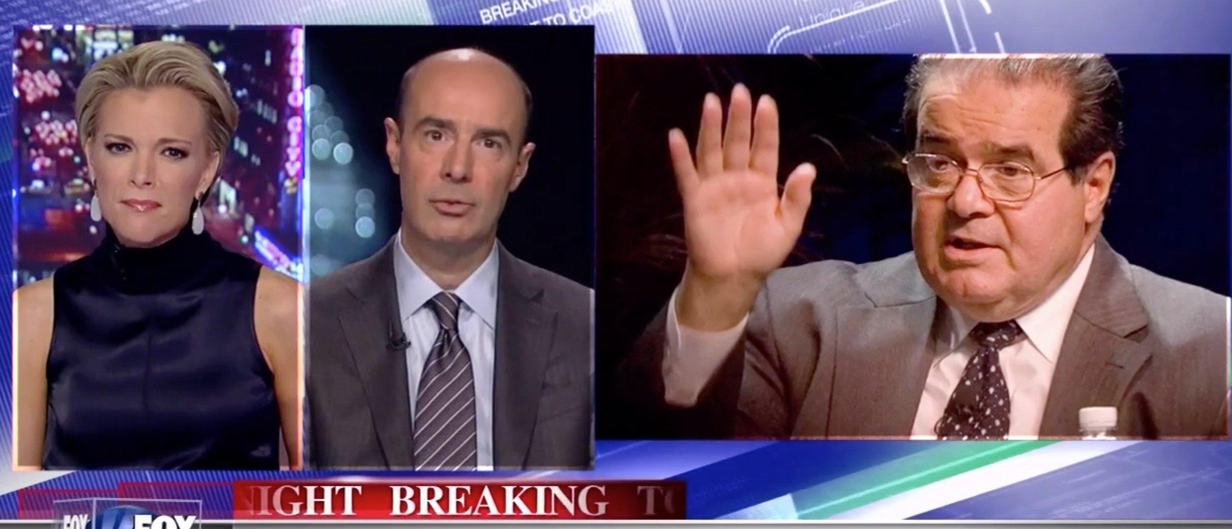 Megyn Kelly, Eugene Scalia, Anthony Scalia, Screen shot Fox News