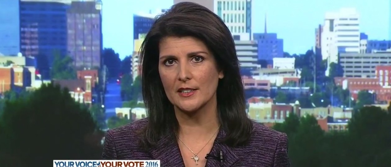 Nikki Haley, Screen shot ABC's 'This Week' 2-28-2016