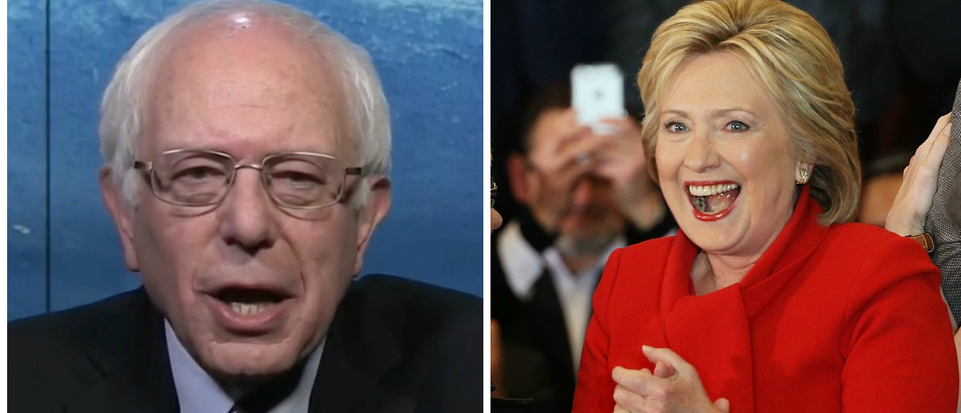 Sanders Says The Clinton Campaign Is 'Nervous' [images via MSNBC and Getty]