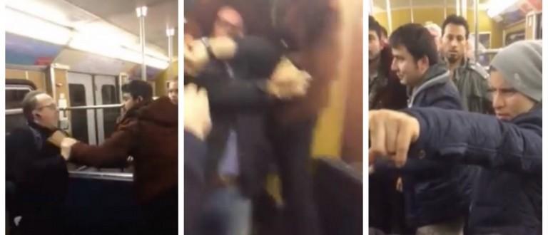 Shocking Footage Shows Middle Eastern Migrants Assaulting German Train Passengers (screenshots: Facebook)