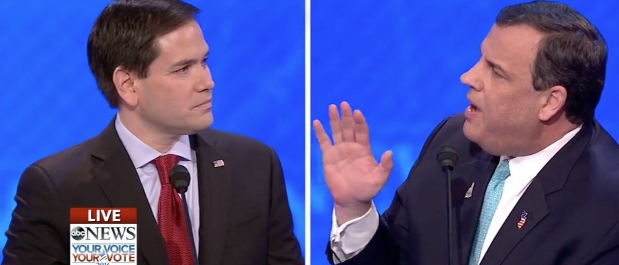 'That Doesn't Help One Person' -- Christie Shreds Rubio's 'Memorized, 25 Second Speeches' (screenshot: ABC)