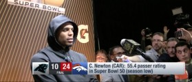 Sulky Cam Newton Walks Away From Press Conference After Stunning Defeat [VIDEO]