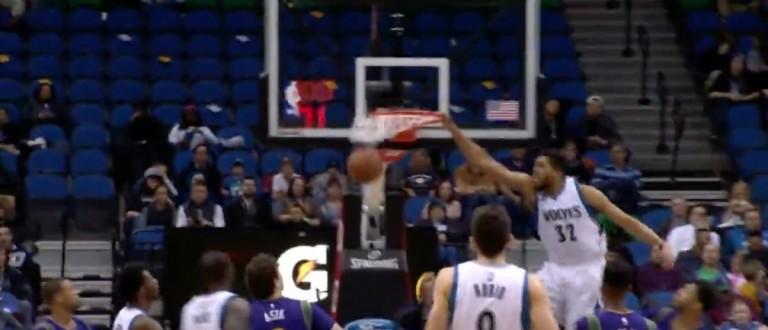 Karl-Anthony Towns (Credit: Screenshot/Youtube NBA)