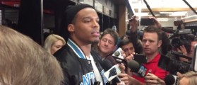 Cam Newton (Credit: Screenshot/ Twitter Video Rachel Rollar)