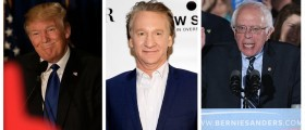 Maher: Trump, Sanders Attract Young Voters Because Of Their 'Authenticity' (Getty Images)