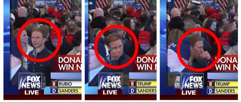 Camera At Trump HQ Catches Guy Mining For Gold, Then Eating It (screenshot: Fox News)