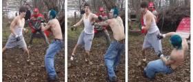 Backyard Brawler Gets KO'd, Shakes Like Terrorist Hooked Up To Car Battery (YouTube)