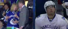NHL Mom Gives Adorable, Teary Interview After Son Scores (Twitter)