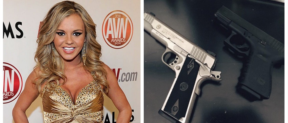 Former Porn Star Warns Robbers She Packs Heat And 'Won't Hesitate' To Use It (Getty Images/Instagram)